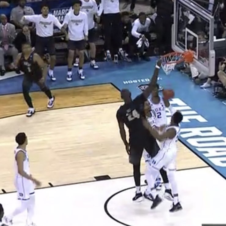 NCAA Tournament Awards: This photo of Tacko Fall barely jumping on a dunk is unreal