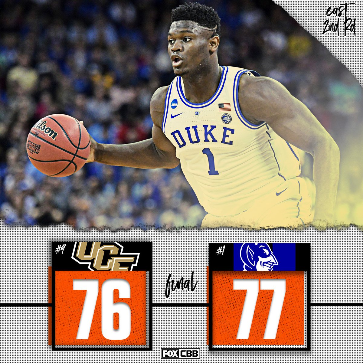 OH MY MADNESS 😱  Duke barely escapes upset at the hands of UCF.
