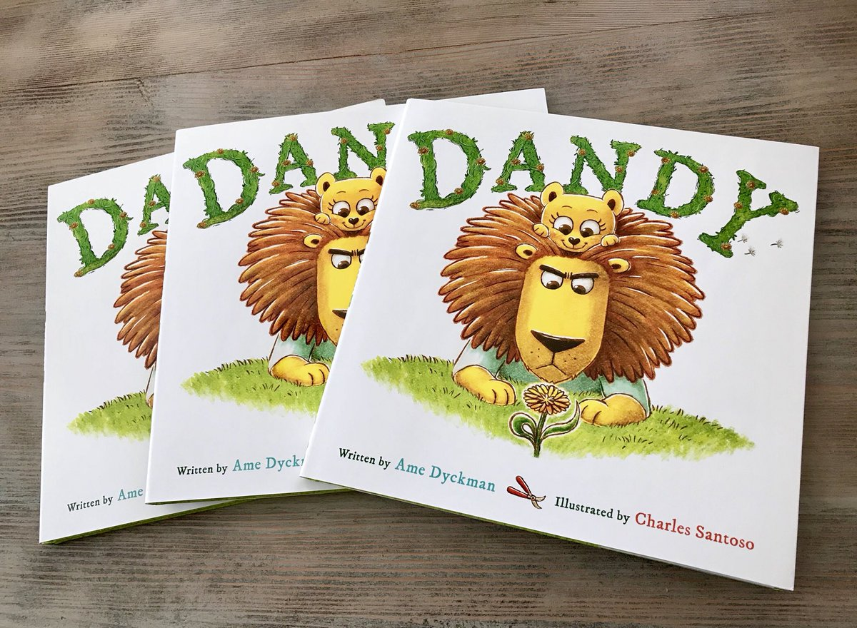 YIPPEE! EARLY copies of DANDY arrived, so...  #GIVEAWAY!  ⭐️JUST RT⭐️ to enter to win a signed copy of DANDY, my upcoming (4/2) picture 📖 HILARIOUSLY illustrated by @minitreehouse! 😂❤️!  I'll draw 5 RANDOM WINNERS at 10 PM EST, 3/29/19! 🍀, EVERYBODY! 🦁🦁🌼! @LittleBrownYR
