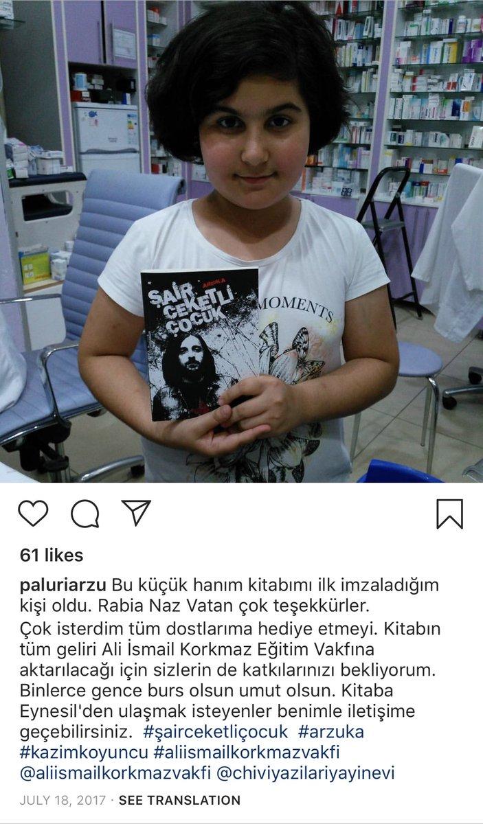 33 yaşında kanserden kaybettiğimiz Kazım Koyuncu hakkında yazılan, geliri 19 yaşındayken katledilmiş Ali İsmail'in anısına kurulan vakfa aktarılacak kitabı ilk imzalatan okur; 12 yaşında öldürülüp sebebi gizlenen Rabia Naz'mış. Ülke değil zincirleme acı tamlaması.