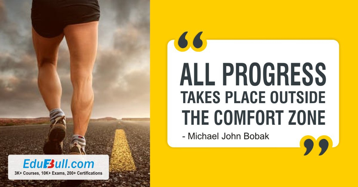 ✔️All Progress Takes Place Outside The Comfort Zone✌️ #Progress #Strength #Success #MondayMotivation #Edubull #Determination #mondaythoughts  https://twitter.com/EdubullOnline/status/1110061231153401856…