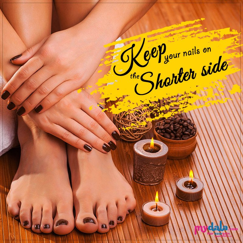 """New Monday. New Week. New Goals. """"Keep Your Nails On the Shorter Side"""". #mondaymanicure #goodmorning #freshstart #goals #newweek https://t.co/341bl7wjhy"""