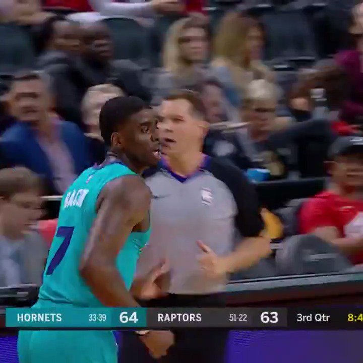 .@BaconDwayne1000 had a career-high 20 PTS (5 3PM) in the @hornets' thrilling win in Toronto!   #Hornets30