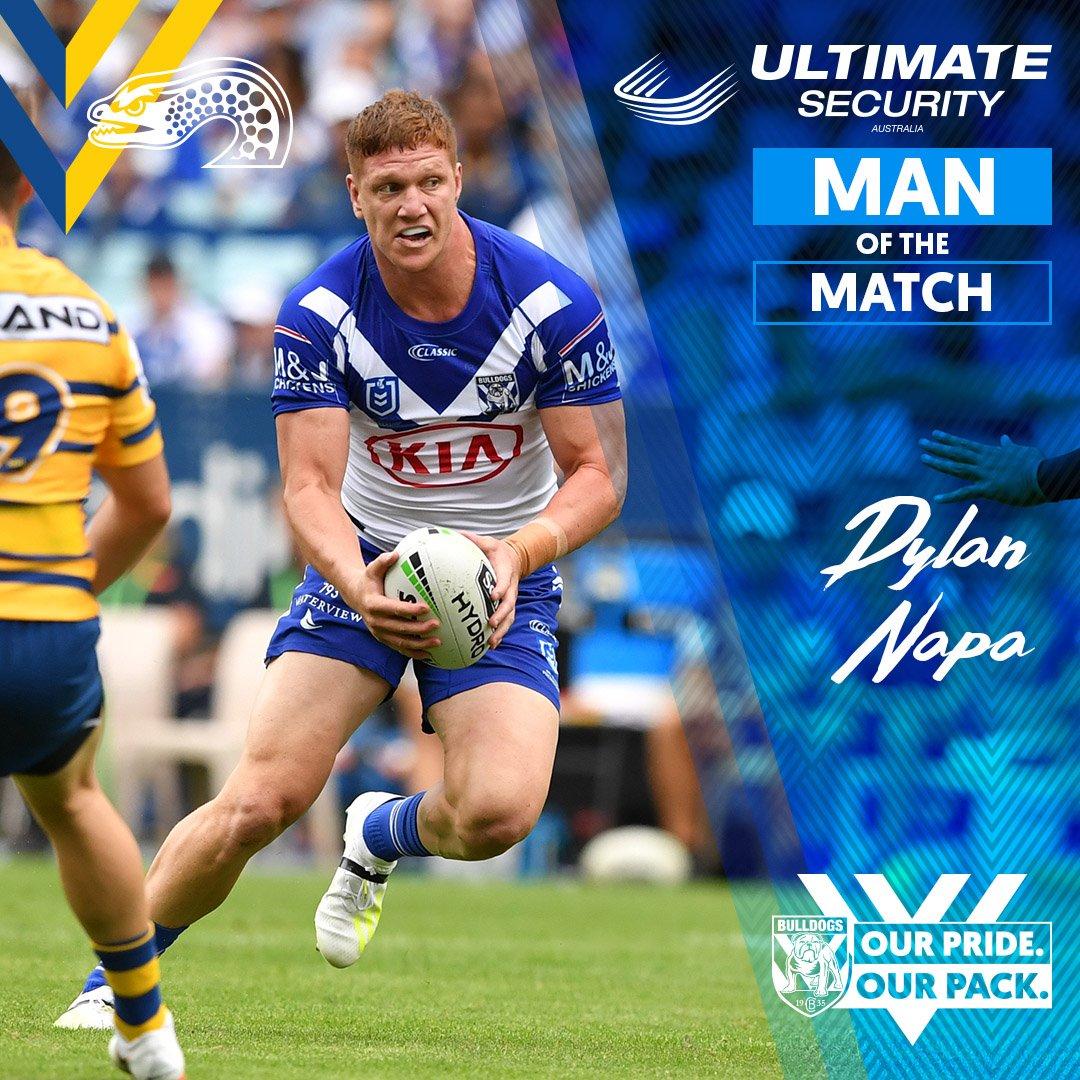 RT @NRL_Bulldogs: Dylan Napa- The Ultimate Security Australia Round 2⃣ man of the match.  #proudtobeabulldog https://t.co/pJXslgQvt2