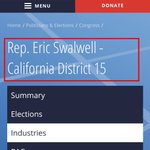 Image for the Tweet beginning: @RepSwalwell Here are your corporate