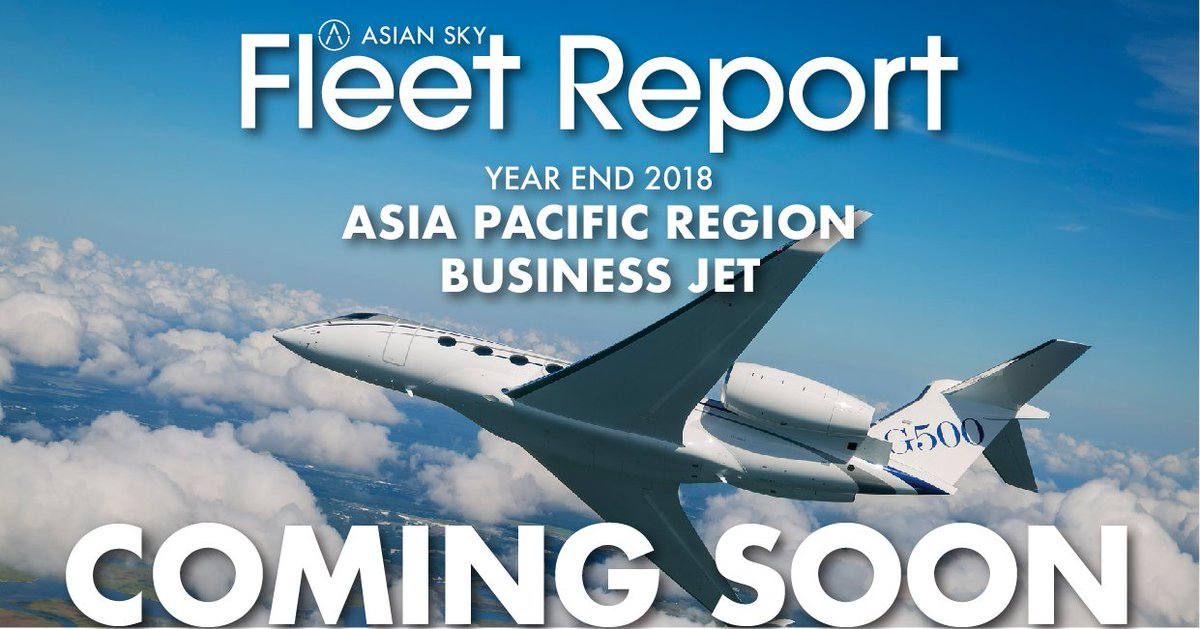 The latest data and more insight. The Asia Pacific Business Jet Fleet Report 2018 is available April 15th.  Pick up your copy at ABACE (Booth A451) or download your copy at https://t.co/Wqs1O75Tc7.   #BizJet #BizAv #businessaviation #businessjets https://t.co/GecLxrWOMm