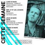 [CETTE SEMAINE AU CONFORT MODERNE] Workshop, concerts et rencontre 👏 Réservations sur https://t.co/rSGo7MaZVM