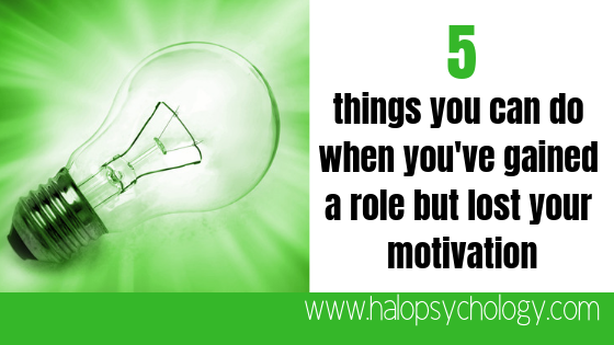 5 things you can do when you've gained a new role but lost your #motivation https://buff.ly/2GYNH48  #careeradvice