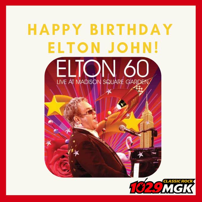 Happy birthday to Elton John!