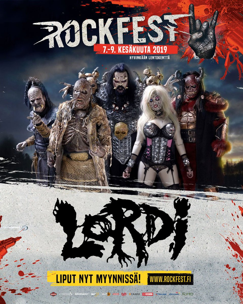 #HYVINKÄÄROCKFEST - LORDI IS COMING FOR YOU!  On June 9th, we're bringing #Sextourcism to #Hyvinkää and Rockfest!  Make sure to secure your tickets now before they're gone! https://t.co/NGoullMYef https://t.co/oW59xfM7jB