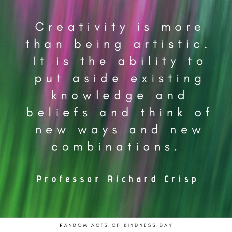 test Twitter Media - Creativity is more than being artistic.  It is critical for problem-solving, progress, change and innovation. #BeMoreLobster #growthmindset #leadership https://t.co/V2PwKO82fL