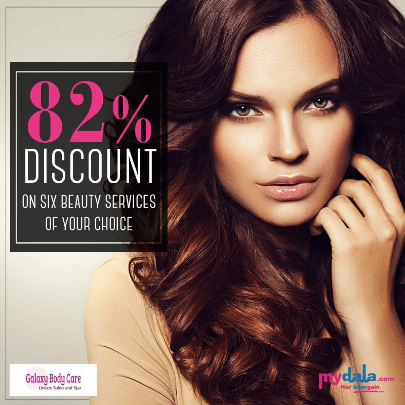 Get Upto 82% Discount On Beauty Services With Galaxy Body Care Unisex Salon. Now The Choice Is Yours. #salon #discount #beautyservices #galaxy #bodycare #unisex To Schedule Your Appointment  click here https://t.co/vk5udus58C https://t.co/IP5gqcjhHx