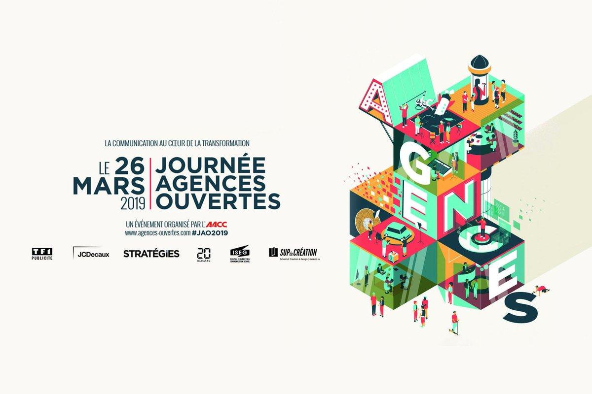 [agenda] 🗓 JOURNÉE AGENCES OUVERTES #JAO2019 Demain en région @auvergnerhalpes et partout en France, les agences ouvriront leurs portes afin de faire découvrir les métiers de la #communication 😉 Organisée par @AACClive  + d'infos et programme 👉 https://t.co/cwa5IJIiNE https://t.co/XHgZxgSU0Z