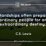 Image for the Tweet beginning: Hardships often prepare ordinary people...