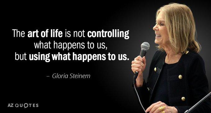 Happy Birthday to feminist, journalist, and social political activist Gloria Steinem!