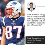 Image for the Tweet beginning: Maybe Gronk isn't gone for
