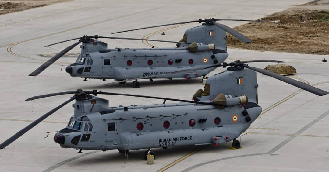 Induction of Chinook Helicopters in Indian Air Force