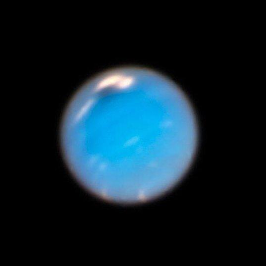 Hubble image of Neptune