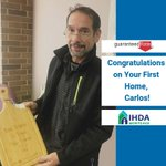Image for the Tweet beginning: Congratulations to first-time homebuyer, Carlos