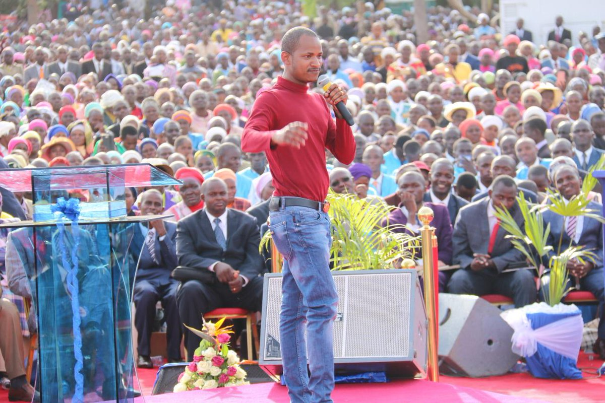 Image result for images of Babu Owino at prophet Owuor's Sunday meeting