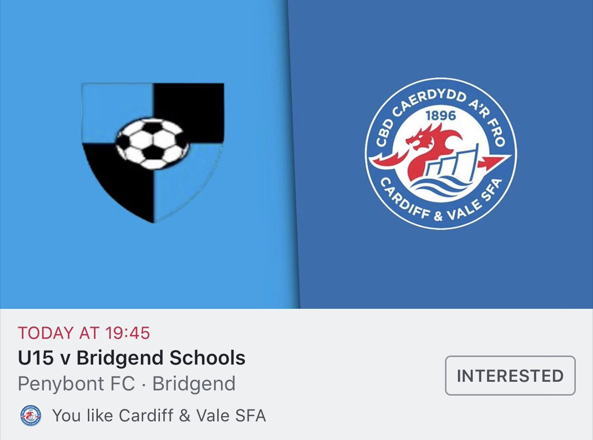 Good luck to our U15 squad in their final @WSFA_InterAssoc Glyncoed Shield fixture against @BridgendSFA tonight. The boys will be looking to keep their unbeaten record intact as they look to cement their place in the @WelshSchoolsFA knockout stage in just under two weeks time. 🔵