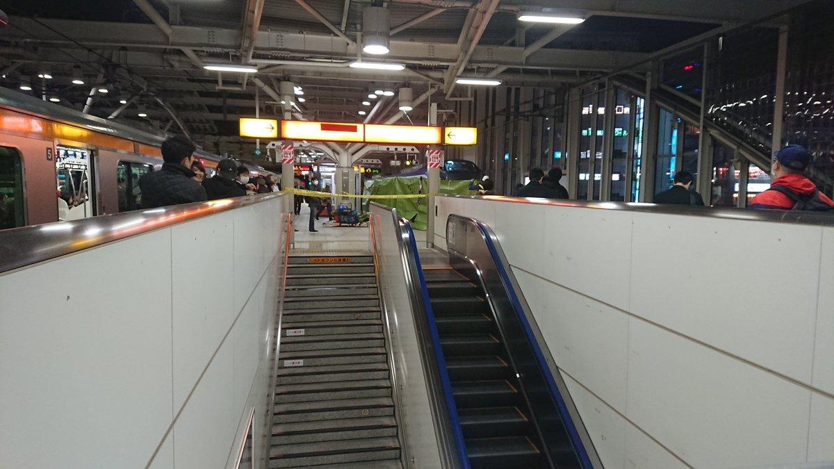 武蔵小金井駅で人身事故の現場画像