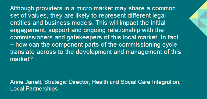 Anne Jarrett's blog for @1adass tackles the issues surrounding micro-markets... are they difficult, but worth it? #ADASS #SocialCare  Read Anne's full blog here: https://t.co/MXRzGE7Hrn