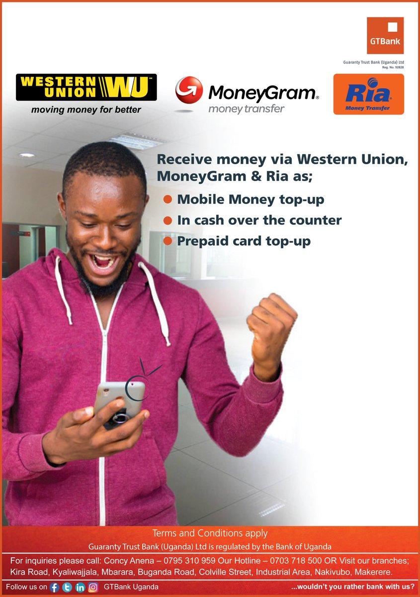 Receive money via Western Union, MoneyGram &