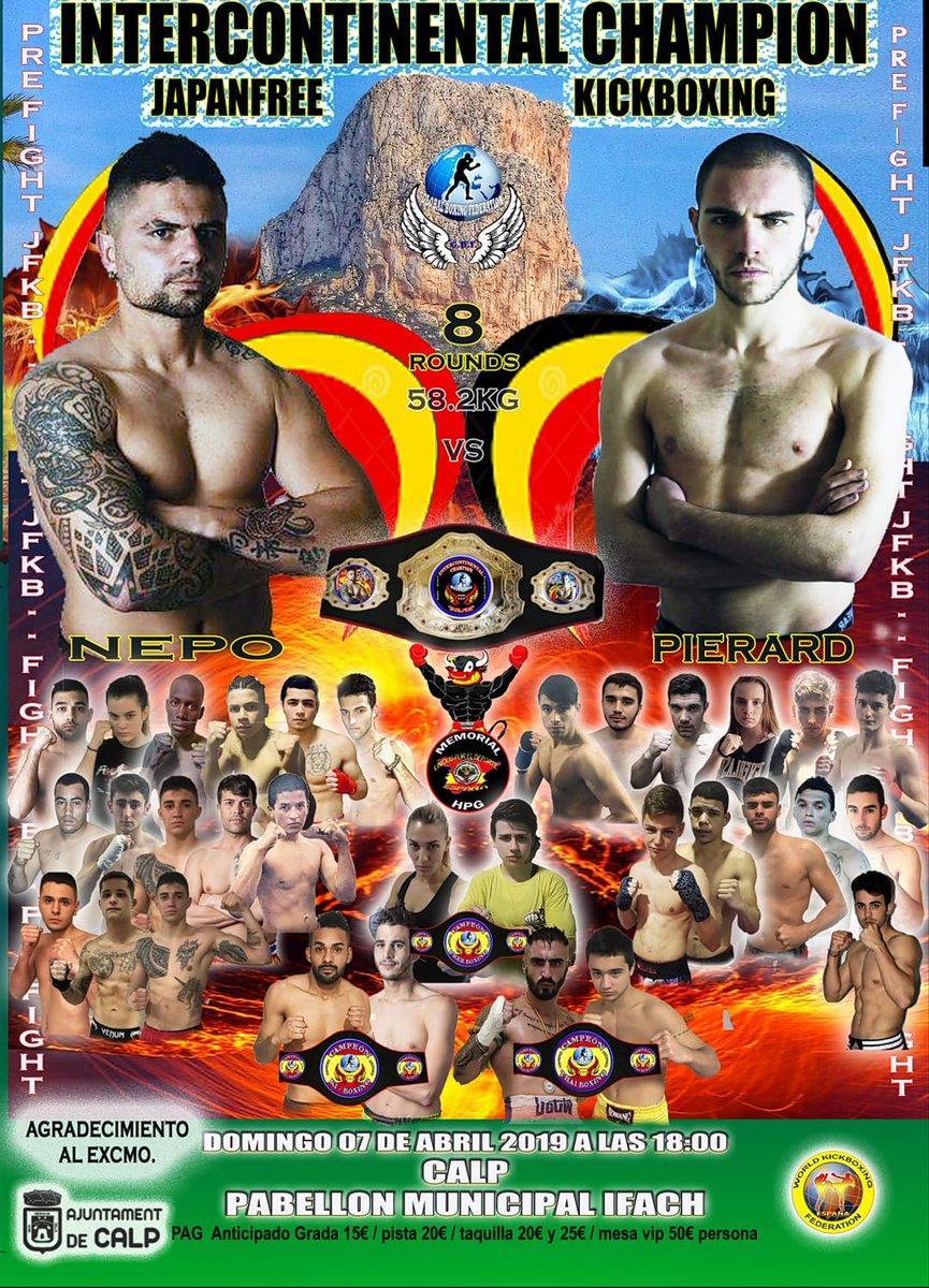 El calpí José Luis Sánchez Nepo disputarà el campionat intercontinental de #kickboxing GBF davant del lluitador belga Sebastien Pierard. Serà a #Calp el pròxim 7 d'abril.