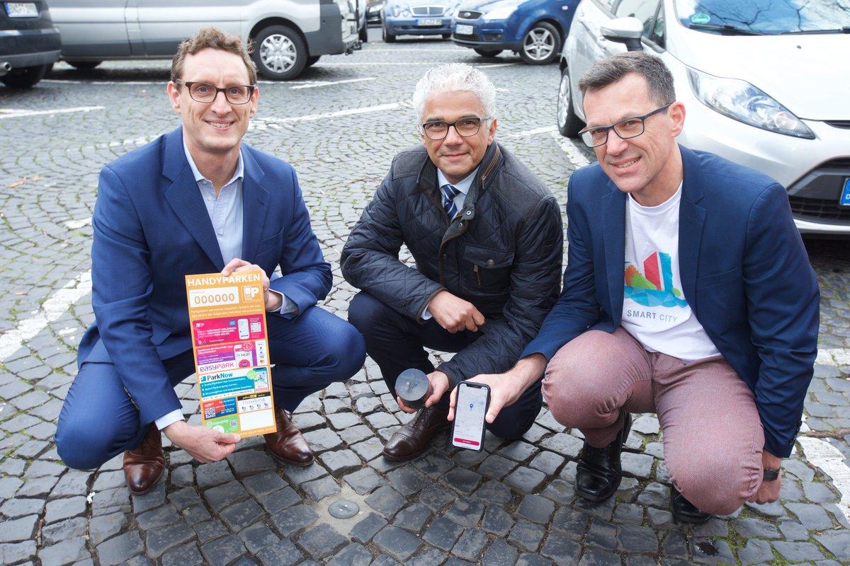 Social Media Post: #SmartParking einfach gemacht: Gemeinsam mit Oberbürgermeister...