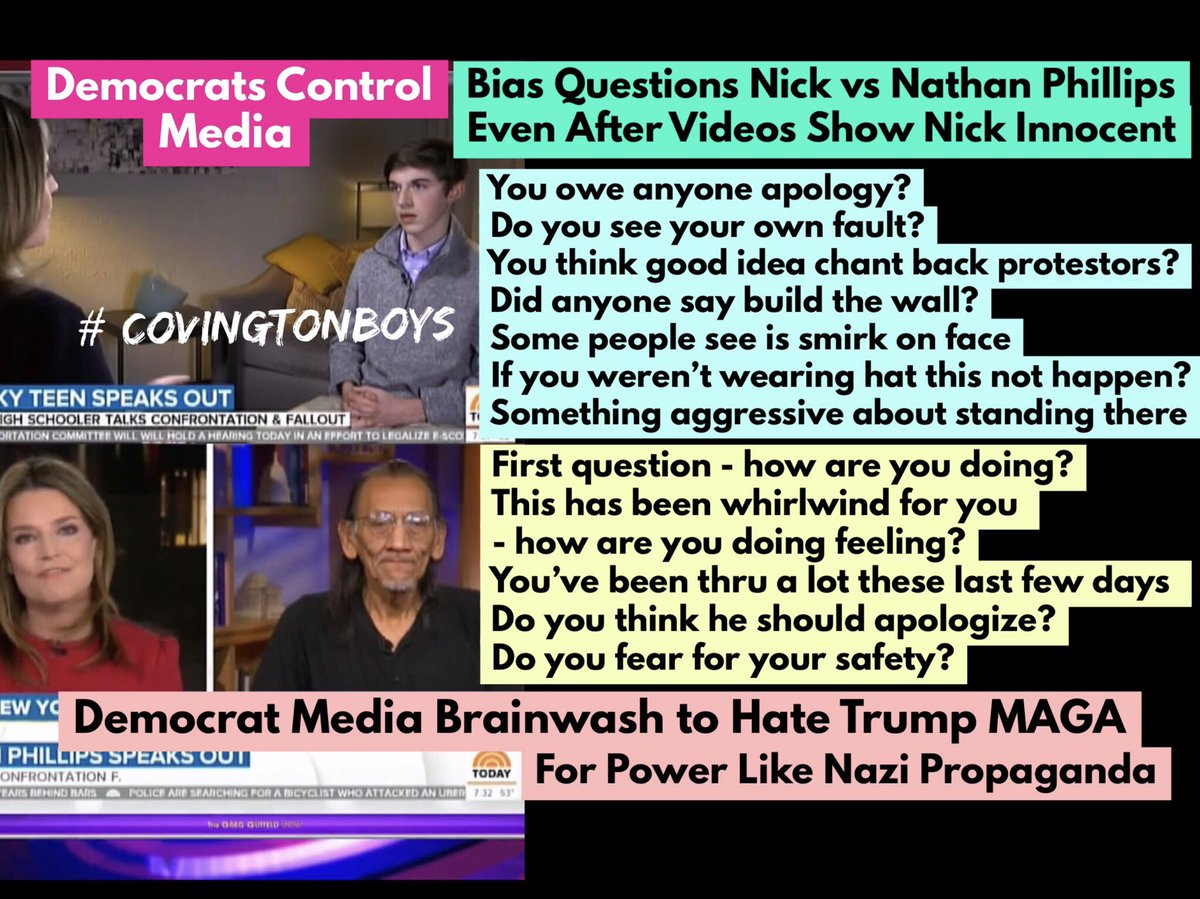 Traderjohnt1 On Twitter Savannah Guthrie And Evil Democrat Media Owe Trump Sarah Sanders And American People Apology For Lying To Them Brainwash Like Nazi Propaganda Remember Hate Bias On Innocent Covington Kids
