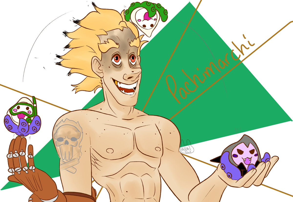 Never really participated much in Twitter art related stuff before but #PachiMarchi was too good to pass up, thanks @PlayOverwatch  #Overwatch #OverwatchFanart #pachimari #junkrat #jamisonfawkes