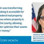 Meet Jessica Salmoiraghi, Associate Administrator of GSA's Office of Government-wide Policy and the Chief Acquisition Officer. #WomenLead #WomensHistoryMonth @FAS_Outreach