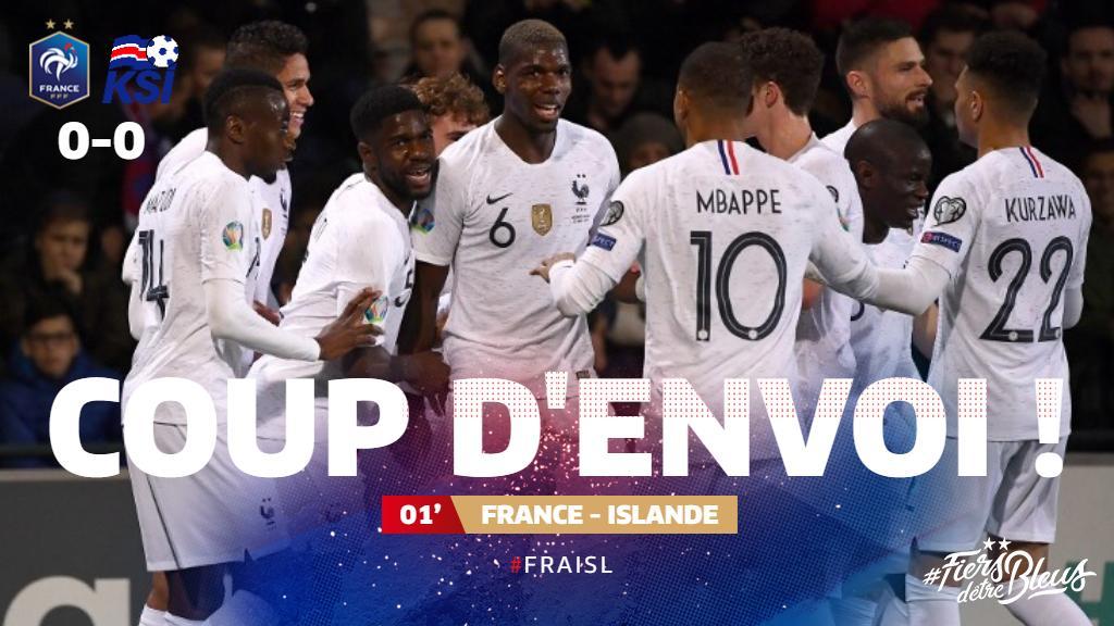 C'est parti pour le 1er match de l'année au Stade de France ! 👊 #FRAISL #FiersdetreBleus
