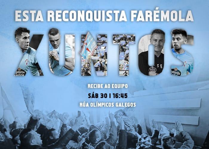 Cartel del recibimiento al Celta (Foto: FdP).
