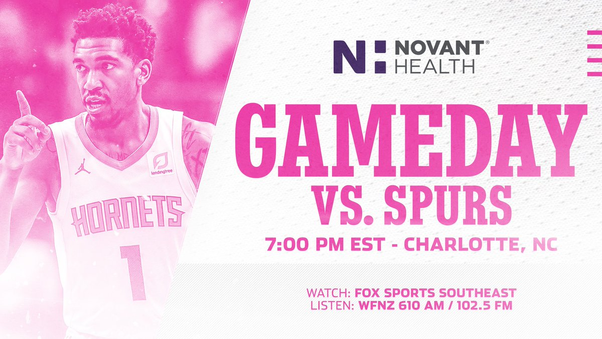 Tonight is Breast Cancer Awareness Night!  💗💗💗💗💗💗  #Hornets30 | @NovantHealth