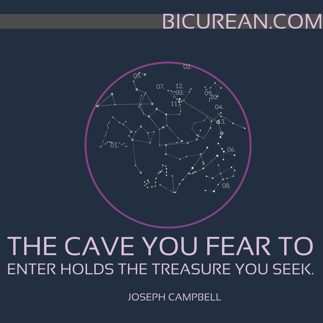 The cave you fear to enter holds the treasure you seek. ~ Joseph Campbell. #treasure #courage #seeeking