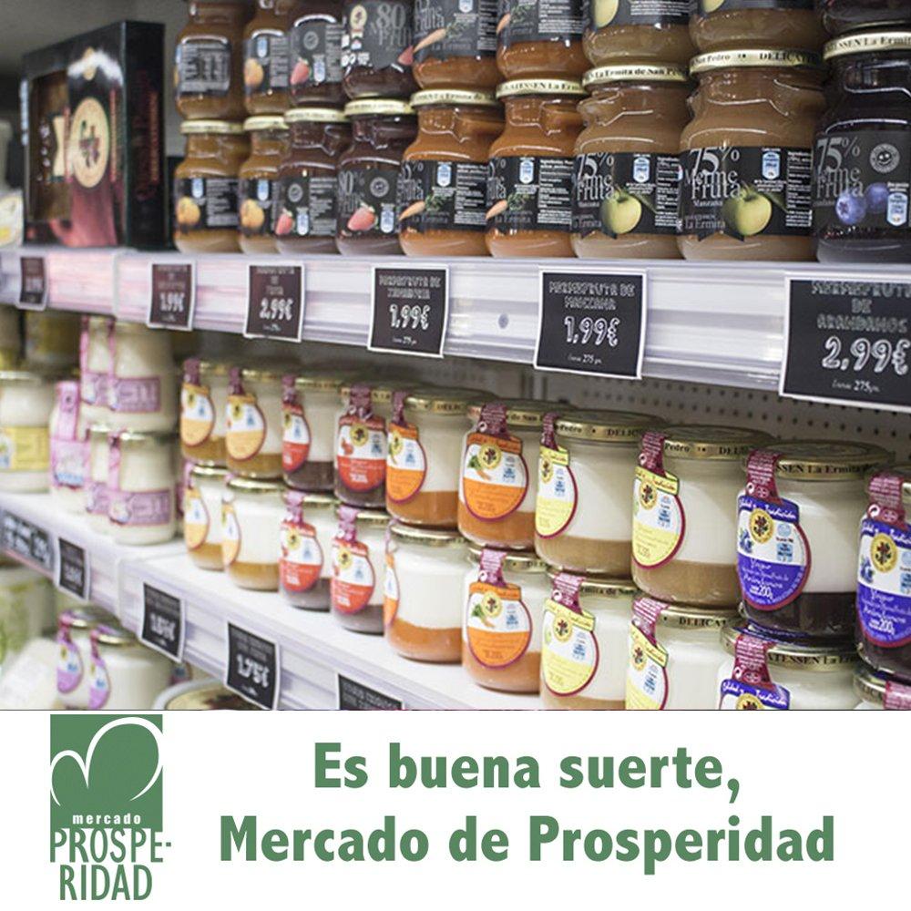 Productos de primera calidad para llenar tu nevera. ¿Qué tienes que comprar hoy? Es buena suerte. Mercado de Prosperidad #MercadoDeProsperidad #LaProspe #Madrid