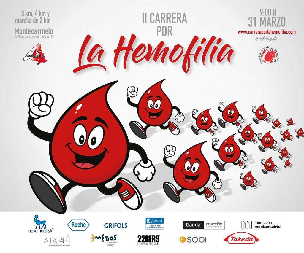 #runners #Madrid Todavía estás a tiempo !!!  Inscríbete a la II Carrera por la hemofilia  que se celebrará el 31 de marzo   http://www.carrerraporlahemofilia.com