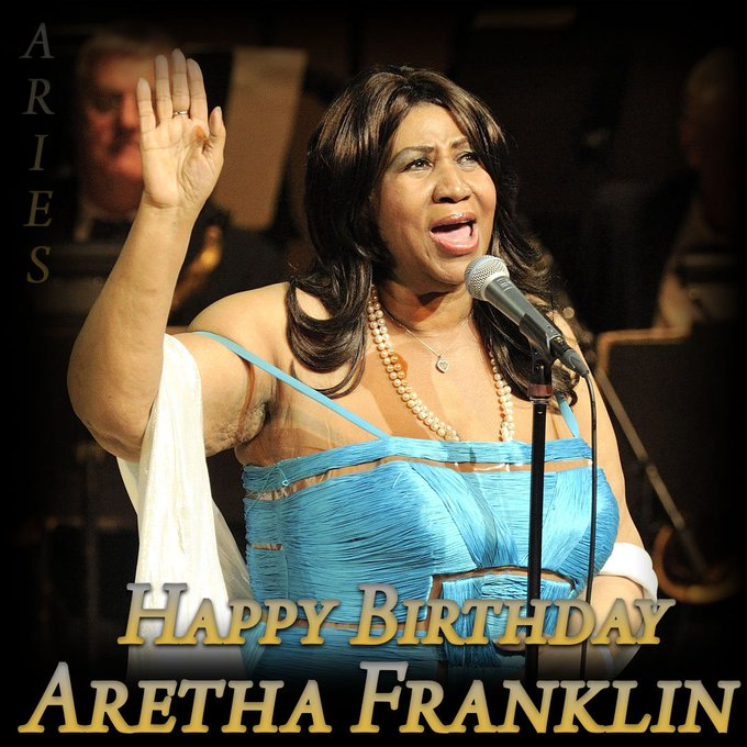 Happy Birthday to Aretha Franklin. The soul singer would have turned 77 today.