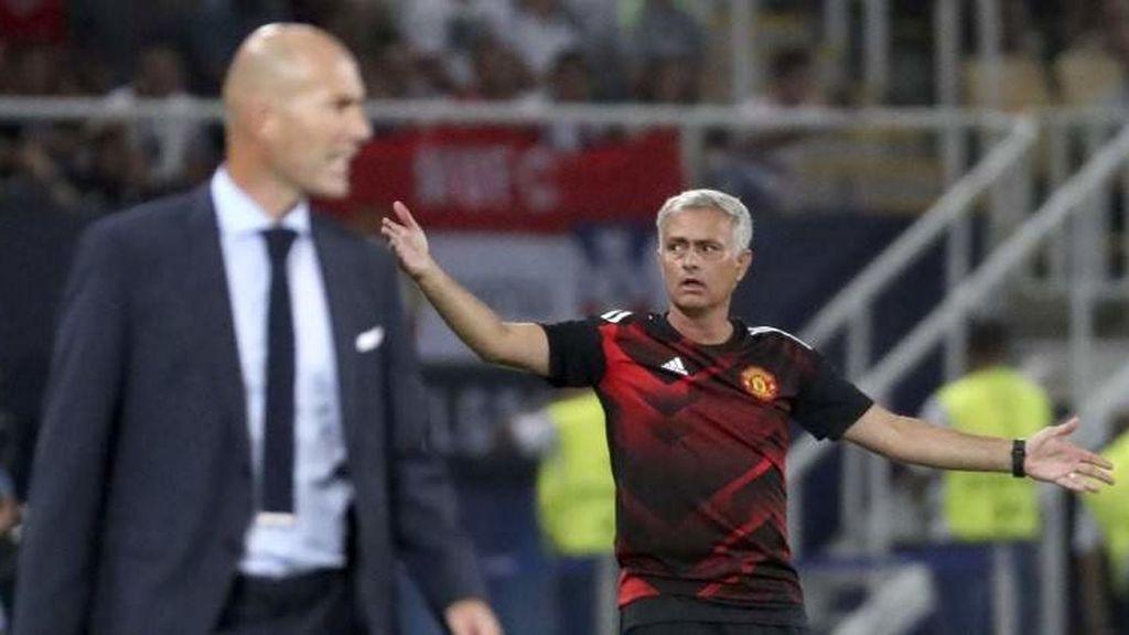 #Mourinho no cree que todavía se pueda hablar de una carrera como técnico para #Zidane: http://ow.ly/NBYW30obhhz