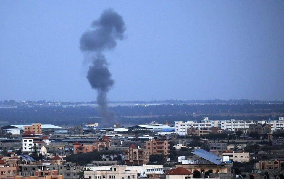 #IDF airstrike in the #Gaza Strip. #Israel