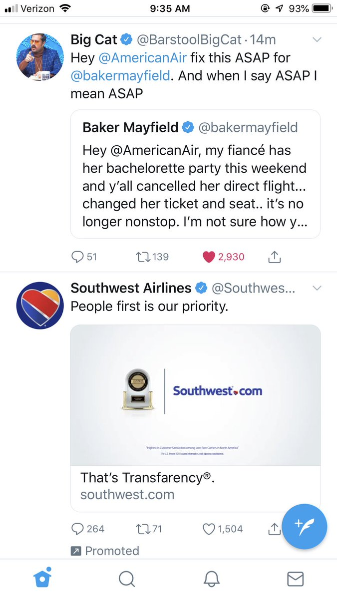 Southwest knows how to advertise