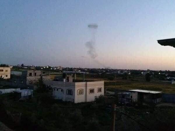 Remnants of airstrike in #Gaza earlier. #Israel