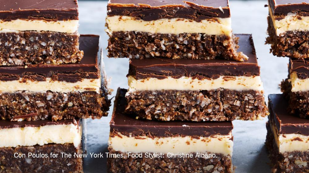 RT @nytimes: The Nanaimo bar is a tremendously sweet, no-bake layered bar cookie from Canada https://t.co/sF2fMBF9TP https://t.co/eV9nzltZTD