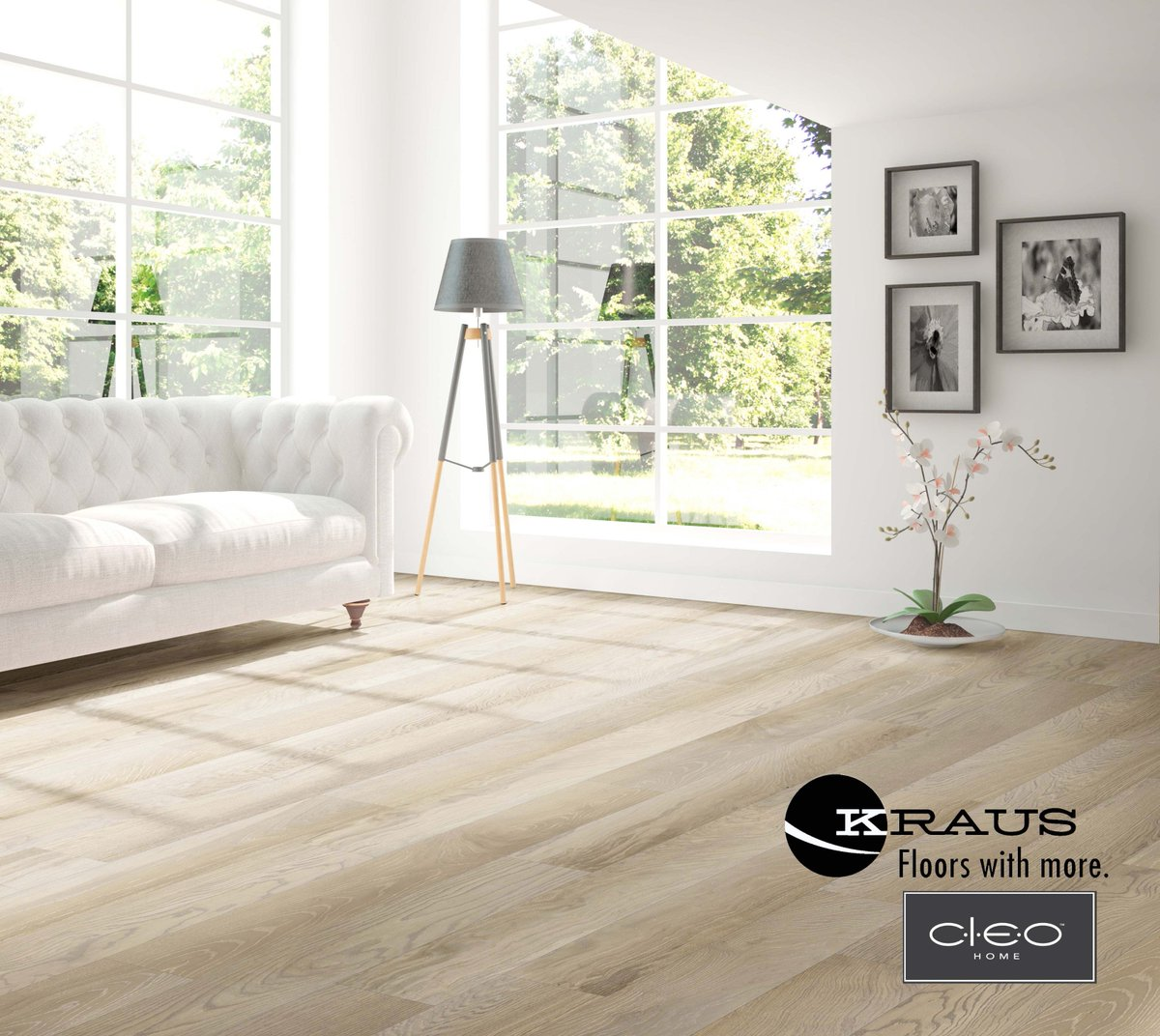 Meet CLEO by Kraus Flooring. An innovative, engineered flooring construction that is eco-friendly with stunning visual artistry.
