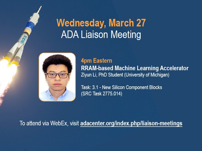 Check out UM PhD student Ziyun Li's talk this Wednesday - all ADA sponsors and researchers invited! Visit https://adacenter.org/index.php/liaison-meetings … … for details.