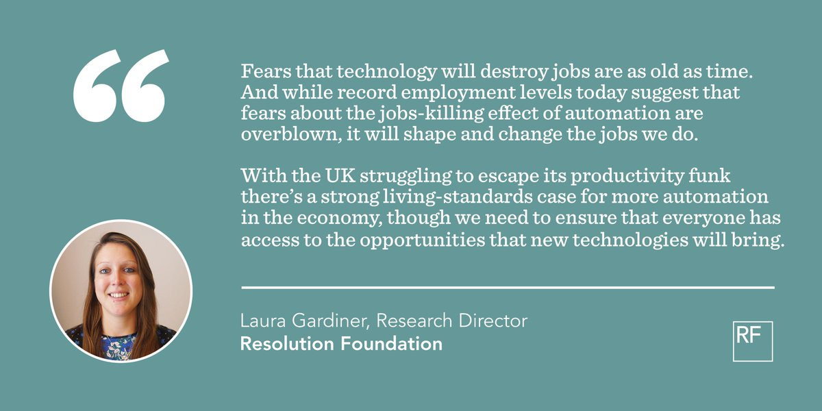 test Twitter Media - New @ONS report out today on the jobs at risk of automation: one of the biggest, most controversial labour market debates of the moment. Here's the reaction from RF's @lauracgardiner - and more on the issue from @stephenlclarke and Professor Paul Gregg: https://t.co/QaV1w8lmbM https://t.co/RBUiizDUOu