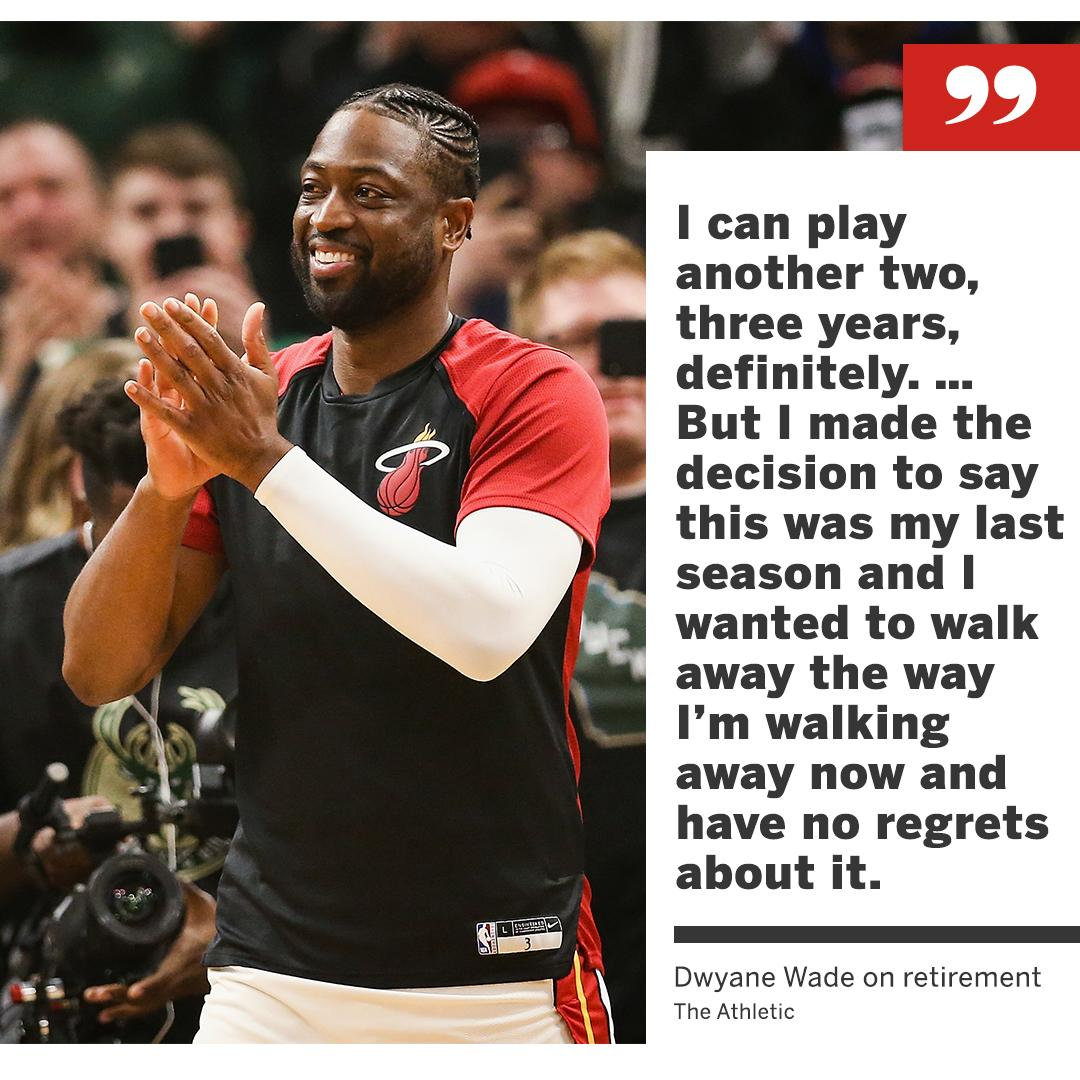 D-Wade is leaving with no regrets. https://t.co/0hSPk3VhnR