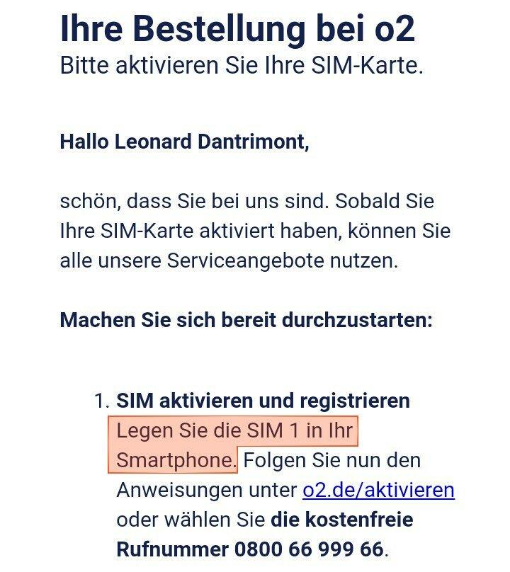 O2 Deutschland On Twitter Die Sim Karte Kannst Du Erst